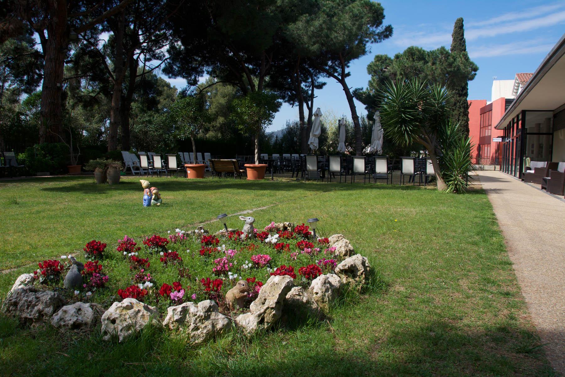 La zona floral del jardí