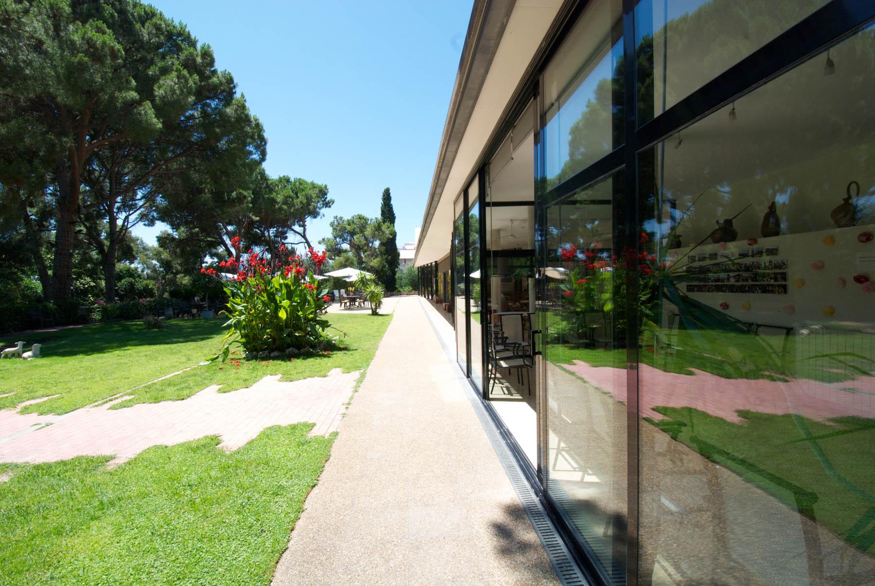 El jardí de la residència